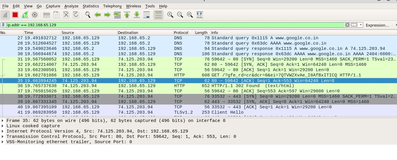 Analyzing Traffic With Wireshark