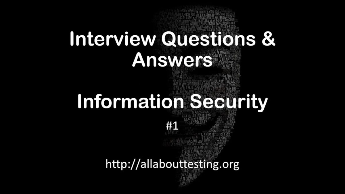 Interview Questions & Answers | Information Security | Set 1