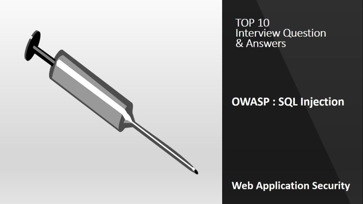 Top 10 Interview Questions: SQL Injection | OWASP | Application Security