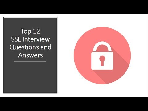 Top 12 SSL Interview Questions | Network Security