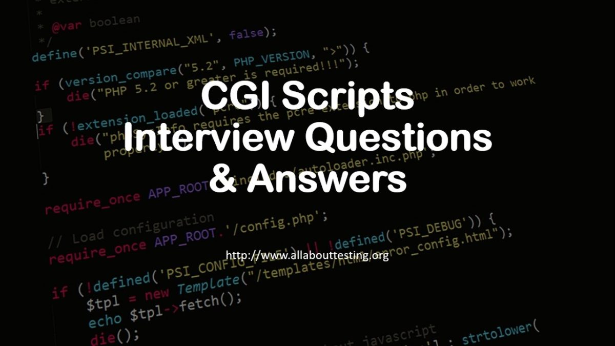 CGI Scripts | Interview Questions & Answers