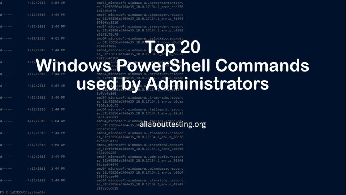 Top 20 Windows PowerShell Commands for Administrators