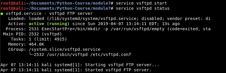 Install ftp server on Kali Linux - All About Testing